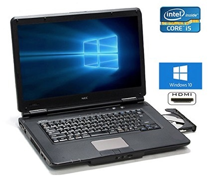 Win7 搭載/NEC VK24/第二世代Core i5 2.40GHz/Office 2016 搭載/メモリ4GB/HDD 500GB/15.6インチ/DVDスーパーマルチ/無線LAN搭載_画像1