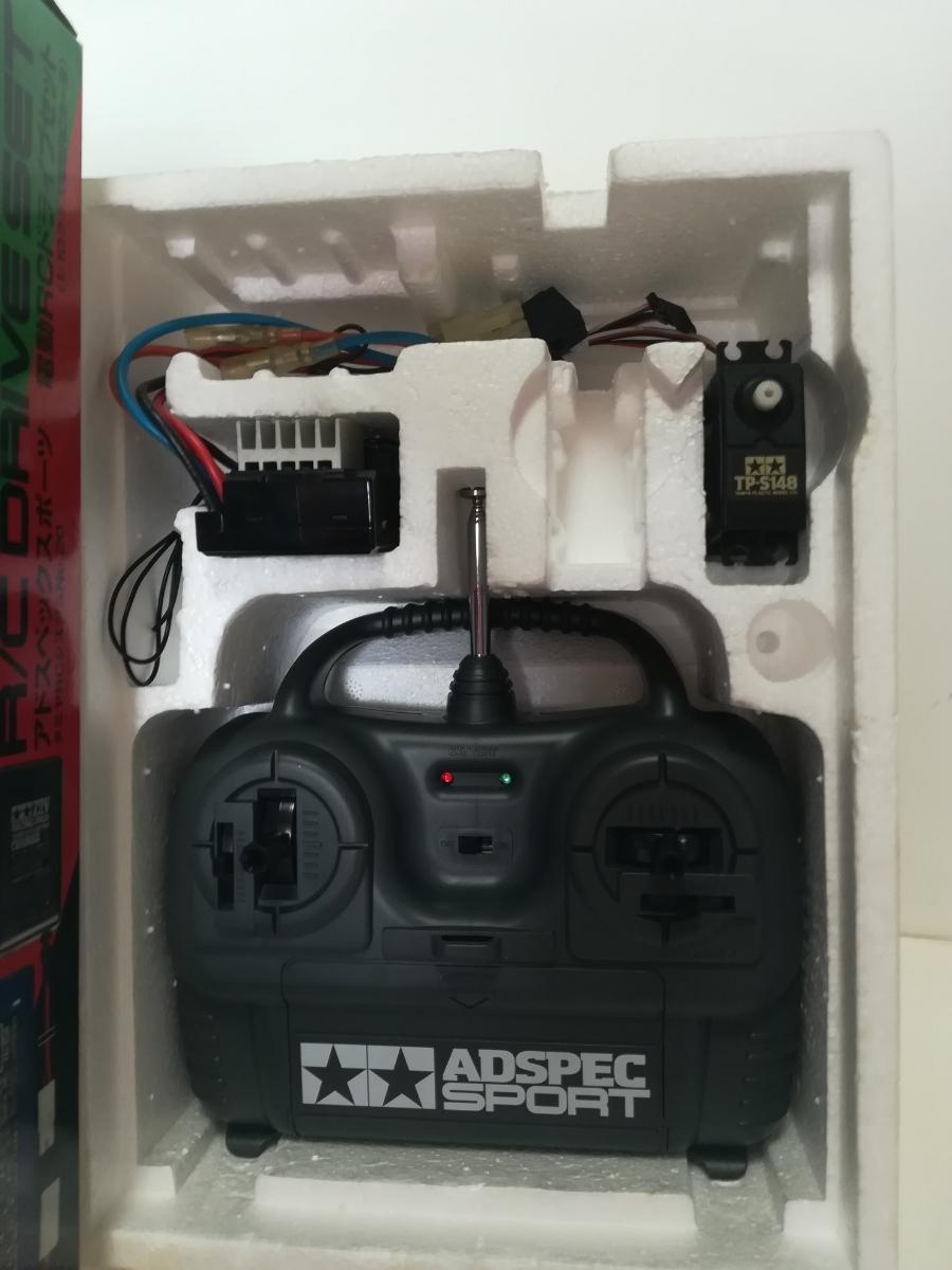 タミヤAMスティックプロポ、受信機1体アンプ、サーボセット お子様、入門、セカンドカーに_画像2