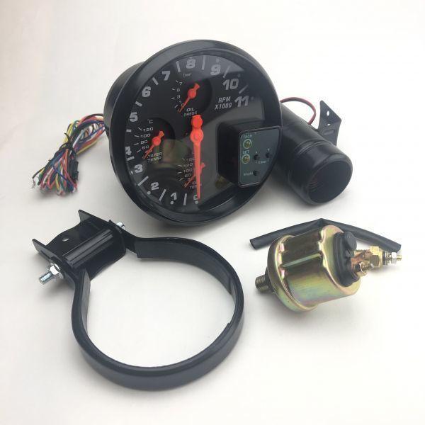 汎用 マルチメーター タコメーター 水温計 油温計 油圧計 追加メーター 86 ZN6 シビック S2000 RX-8 スイフトスポーツ ロードスター_画像5