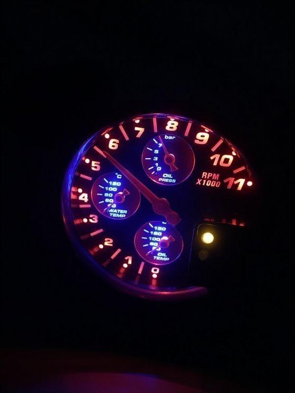汎用 マルチメーター タコメーター 水温計 油温計 油圧計 追加メーター 86 ZN6 シビック S2000 RX-8 スイフトスポーツ ロードスター_画像6