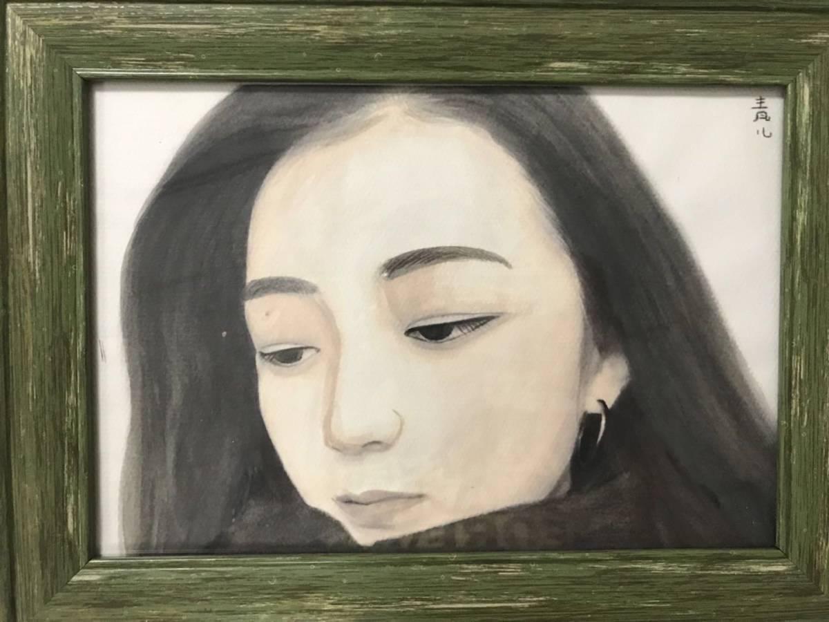 模写 東郷青児 油彩 「女性像」 本人サイン、鑑定証あり