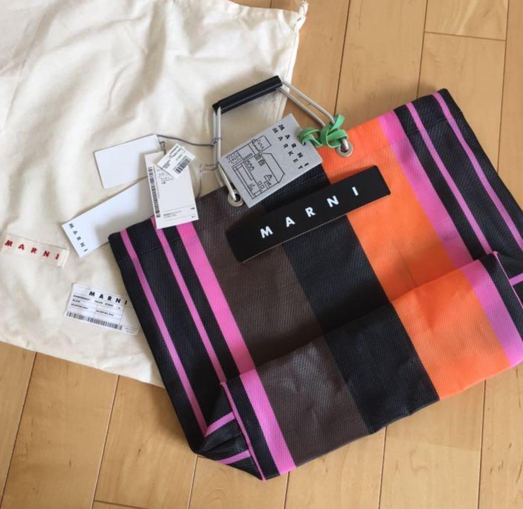 完売人気◆MARNI マルニカフェ メッシュトートバッグ ピンク◆