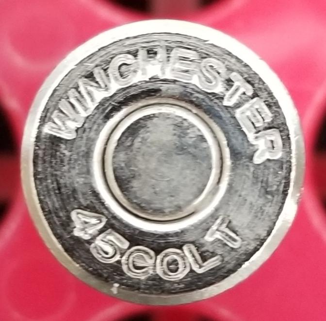 リアル ダミーカートリッジ 45COLT WINCHESTER ニッケルシルバー 1発 ダミーカート インテリア 飾り 観賞用 コルト _画像2