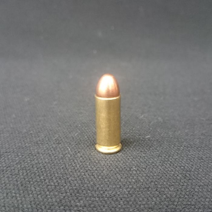 リアル ダミーカートリッジ 38スーパーレミントン フルメタル弾頭 1発 ダミーカート インテリア 飾り 観賞用 弾丸 弾 薬莢 改_画像1