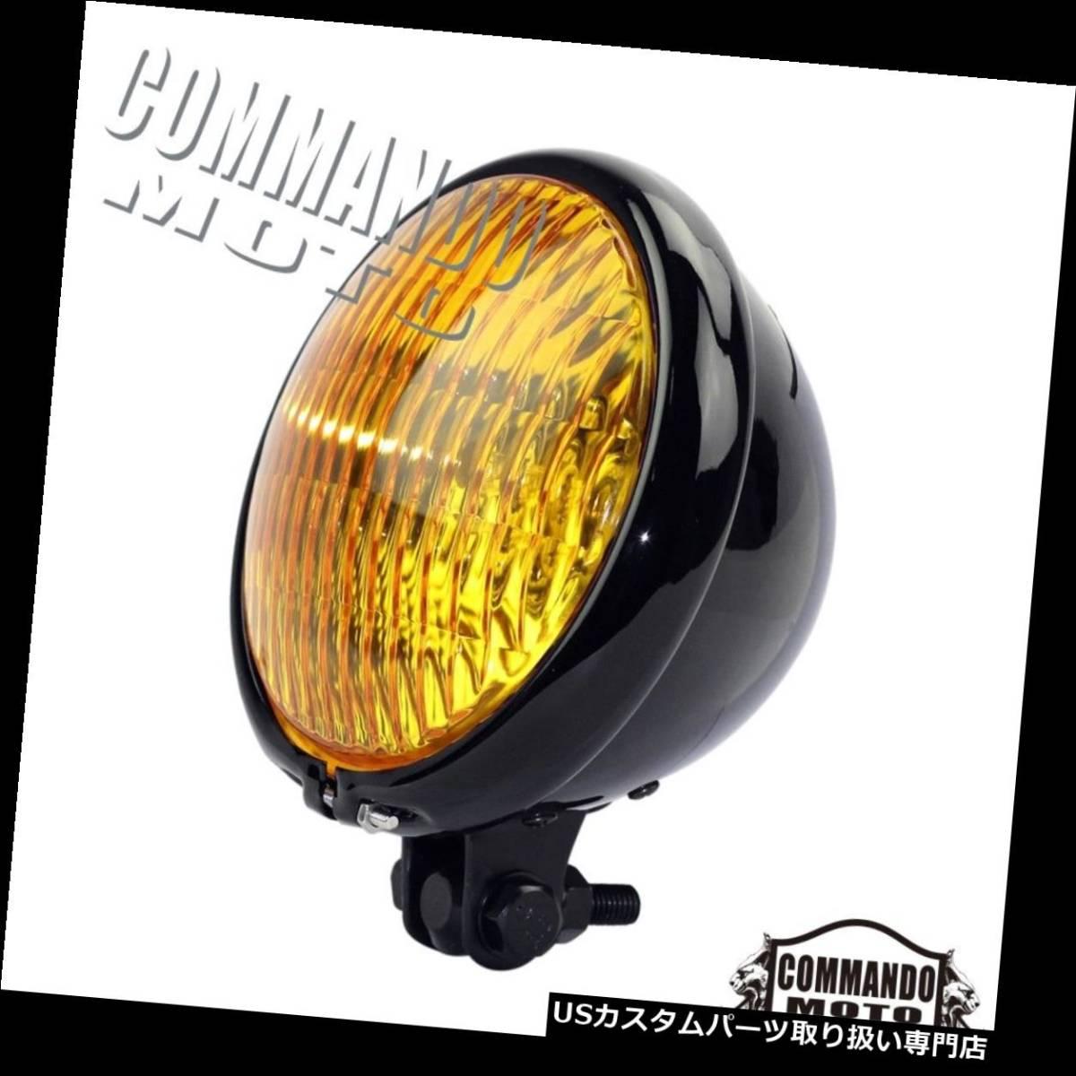 USヘッドライト ハーレーカフェレーサーボバーチョッパーカスタム用オートバイヴィンテージヘッドライトレトロ Motorcycle_画像3