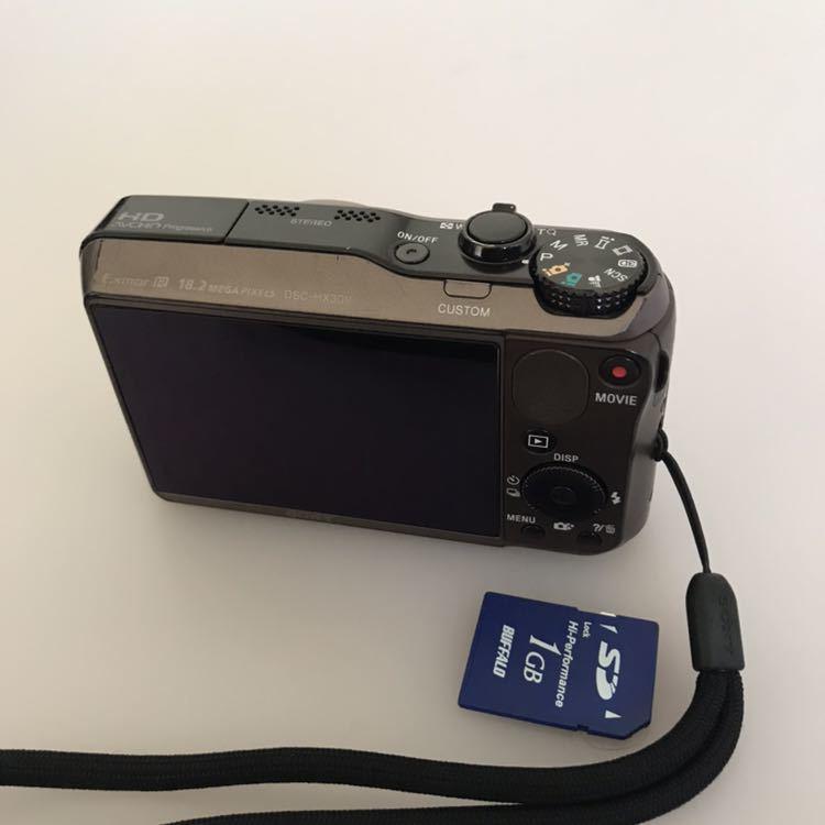 動作品 SONY ソニー デジタルカメラ Cyber-shot DSC-HX30V バッテリーなし。_画像2