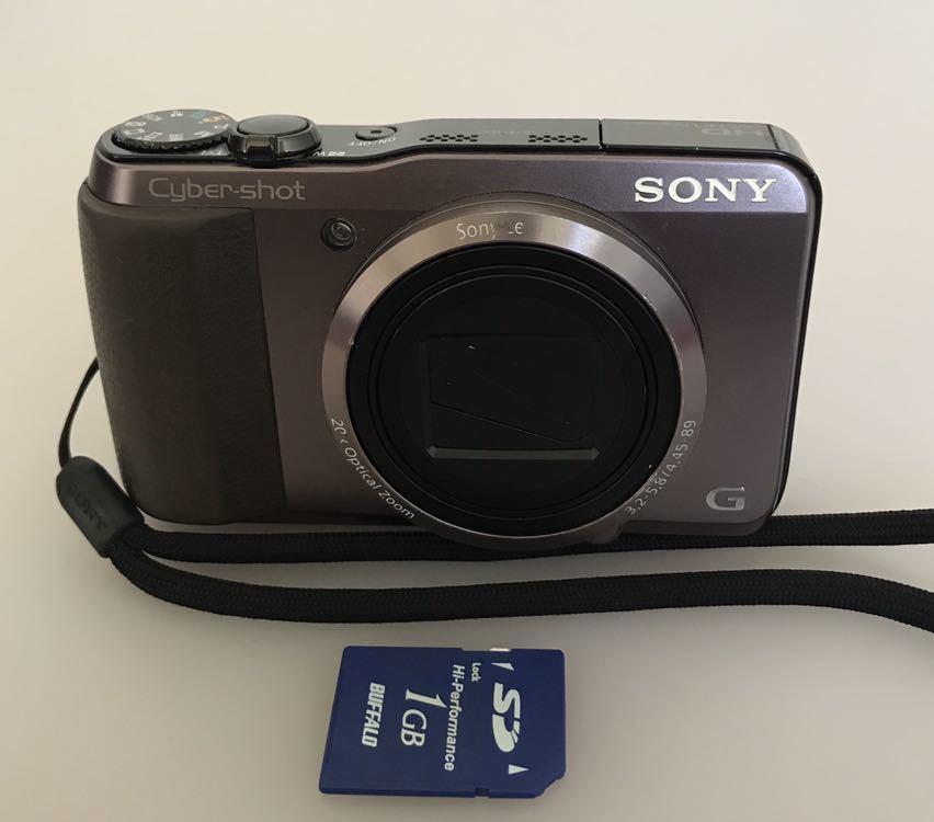 動作品 SONY ソニー デジタルカメラ Cyber-shot DSC-HX30V バッテリーなし。