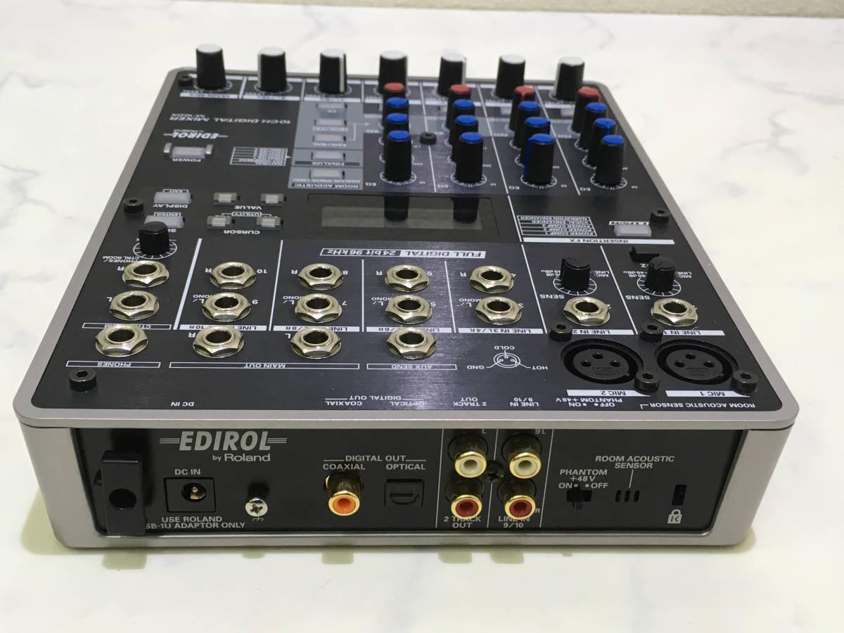 【h-011 ジャンク】 Roland/ローランド EDIROL 10CH DIGITAL MIXER M-10DX _画像7