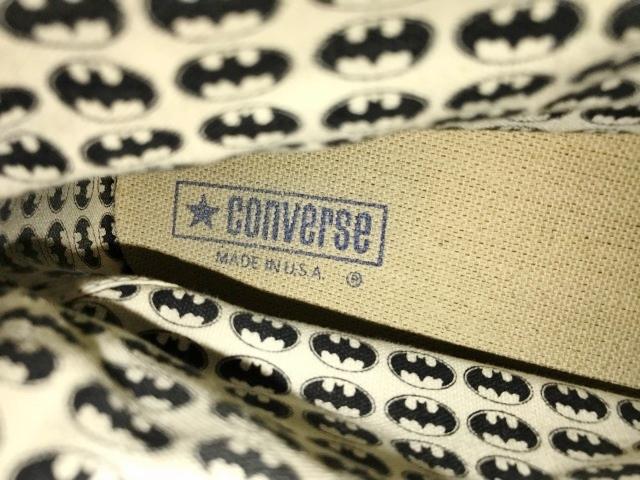 別注 コラボ 限定 1980's USA製 アメリカ製 コンバース バットマン オールスター converse BATMAN ビンテージ チャックテイラー スニーカー_画像3
