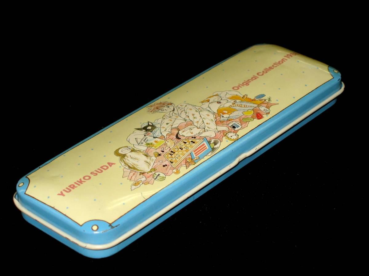 当時物 昭和レトロ 80年代 巣田祐里子 YURIKO SUDA Original Collection 1988 アニパロ movic カンペン 缶ペン 筆入れ 筆箱 文房具 USED_画像2