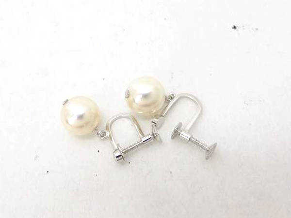 1円 超美品 オーロラ 花珠 アコヤ真珠 シルバー含む ネックレス イヤリング 計2点セット CA783_画像7