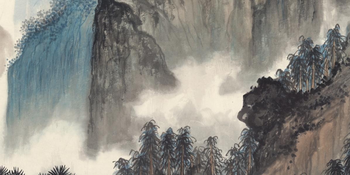 中国美術 近現代書画家 呉湖帆 山水図 掛け軸 書画立軸 肉筆保證 _画像5