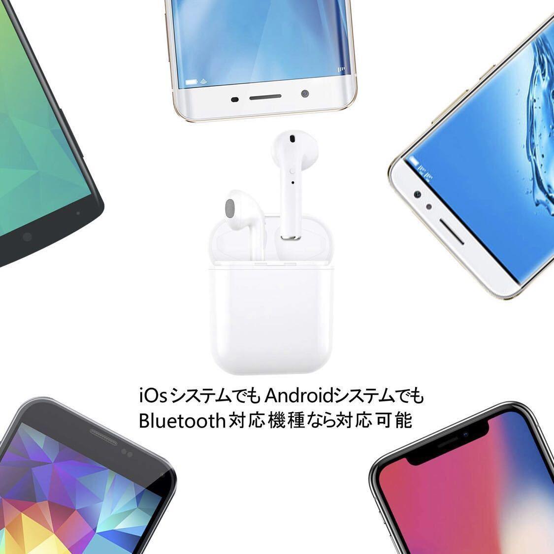 1円出品!【最新 Bluetooth5.0】ワイヤレスイヤホン ブルートゥース高音質 自動で接続ペアリング両耳通話 5時間連続音楽再生可能_画像5