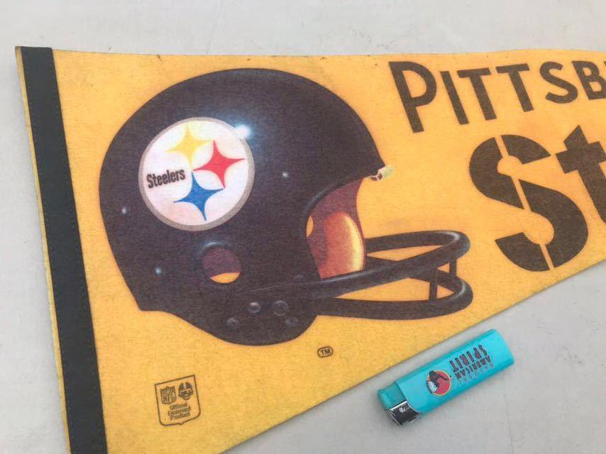 b★ビンテージ/1970s/ピッツバーグスティーラーズ/ペナント/Pittsburgh Steelers/USA★_画像1