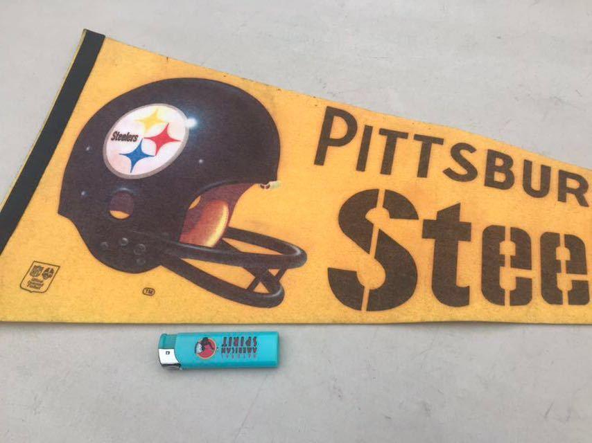 b★ビンテージ/1970s/ピッツバーグスティーラーズ/ペナント/Pittsburgh Steelers/USA★_画像2