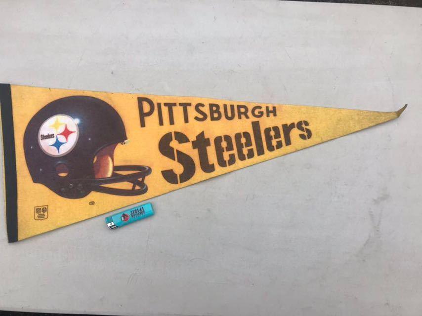 b★ビンテージ/1970s/ピッツバーグスティーラーズ/ペナント/Pittsburgh Steelers/USA★_画像3