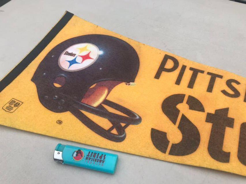b★ビンテージ/1970s/ピッツバーグスティーラーズ/ペナント/Pittsburgh Steelers/USA★_画像5