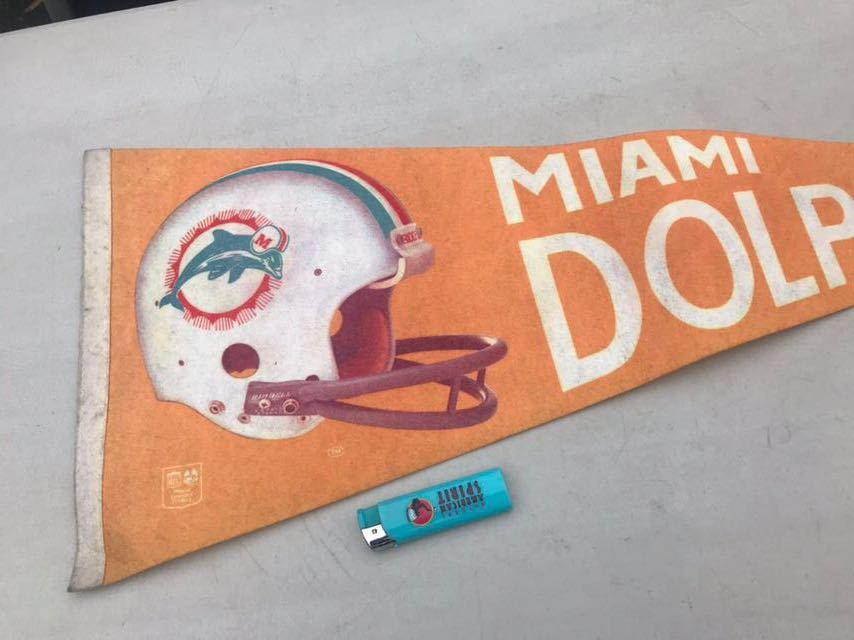 d★ビンテージ/1970s/マイアミ ドルフィンズ/ペナント/Miami Dolphins/USA★_画像2