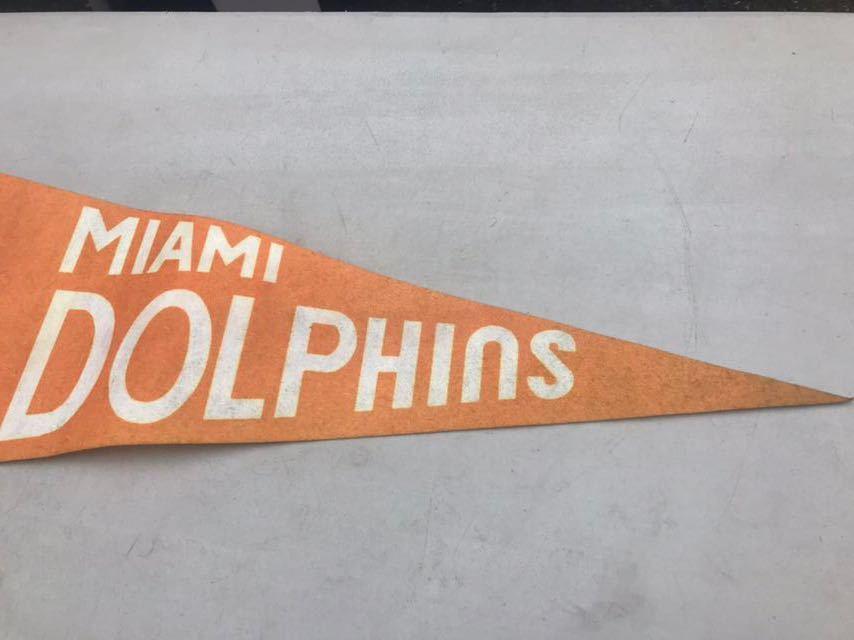 d★ビンテージ/1970s/マイアミ ドルフィンズ/ペナント/Miami Dolphins/USA★_画像4