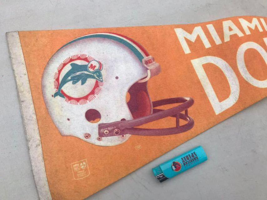 d★ビンテージ/1970s/マイアミ ドルフィンズ/ペナント/Miami Dolphins/USA★_画像1