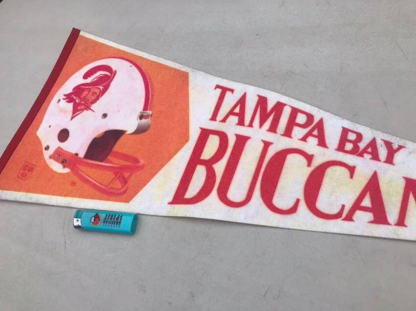 e●ビンテージ/1970s/タンパベイ バッカニアーズ/ペナント/Tampabay Buccaneers/USA★_画像5