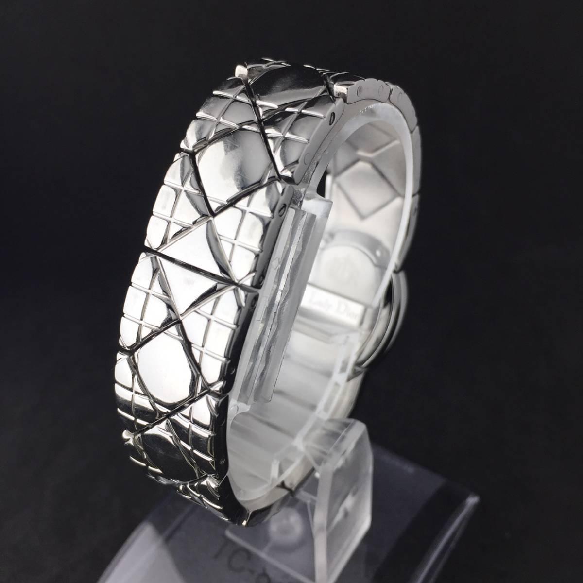 【1円良品】Christian Dior クリスチャン ディオール 腕時計 レディース D90-100 1P ダイヤ シェル文字盤 稼動品_画像6