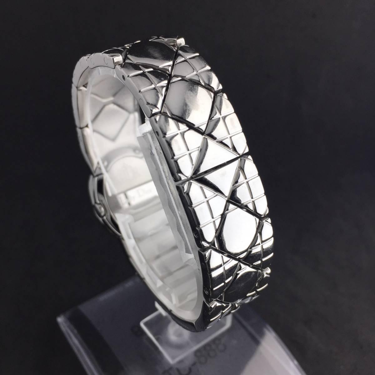 【1円良品】Christian Dior クリスチャン ディオール 腕時計 レディース D90-100 1P ダイヤ シェル文字盤 稼動品_画像7