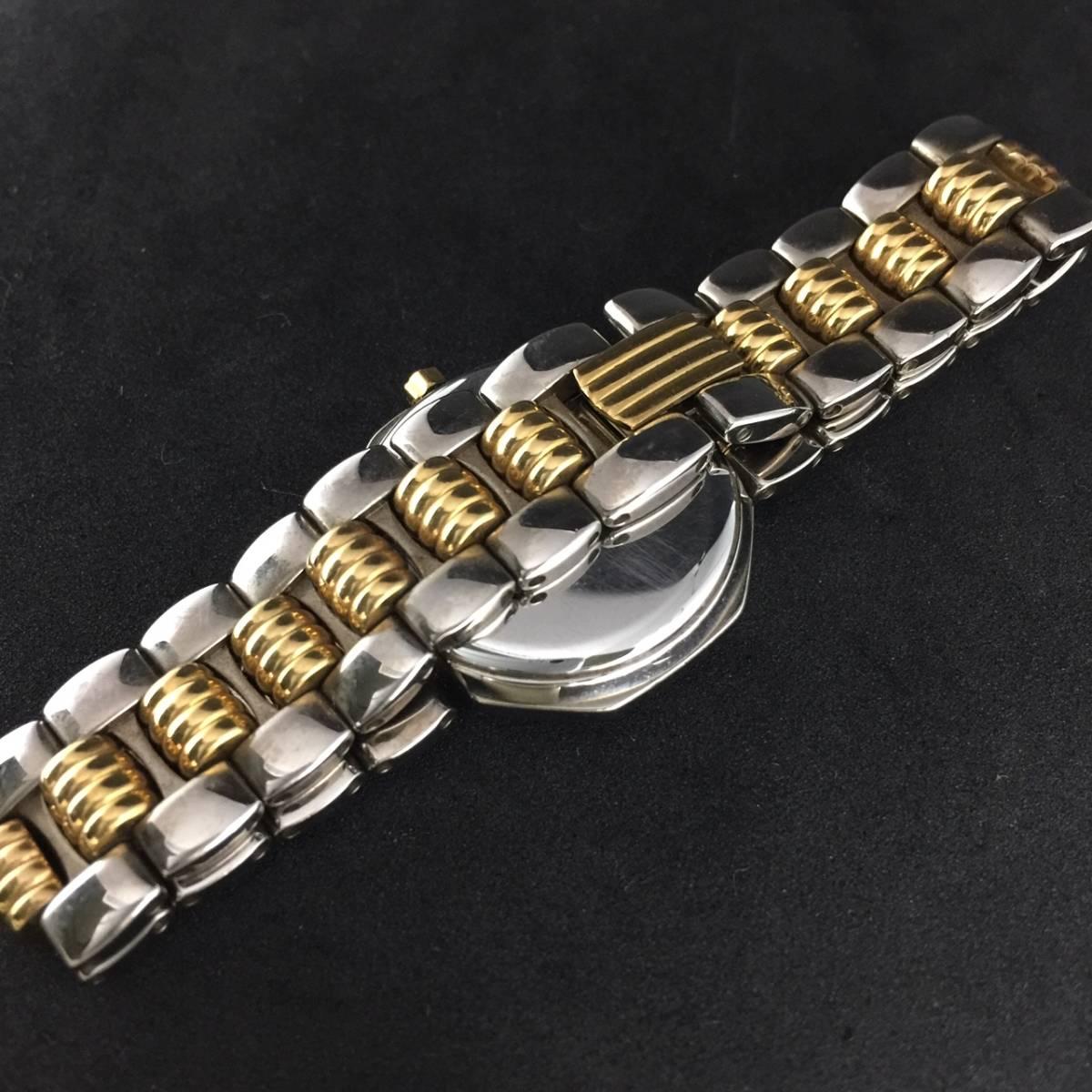【1円~】Christian Dior クリスチャンディオール 腕時計 レディース D48-203 オクタゴン デイト コンビ 可動品_画像6