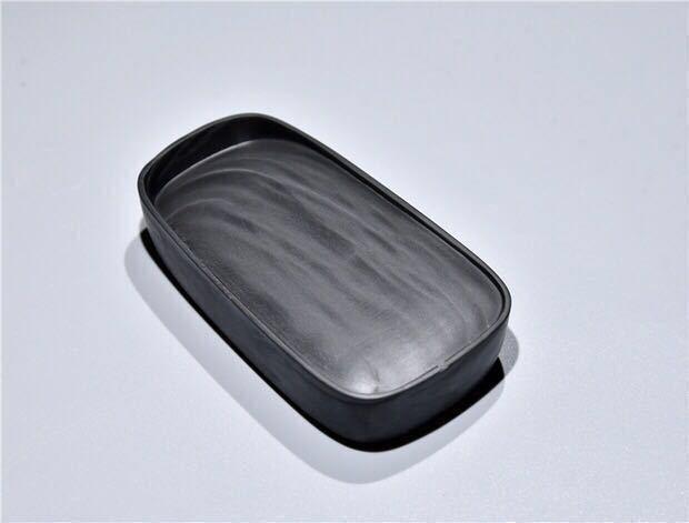 高級品 歙州硯 眉子紋 親子硯セット 錦箱付_画像6