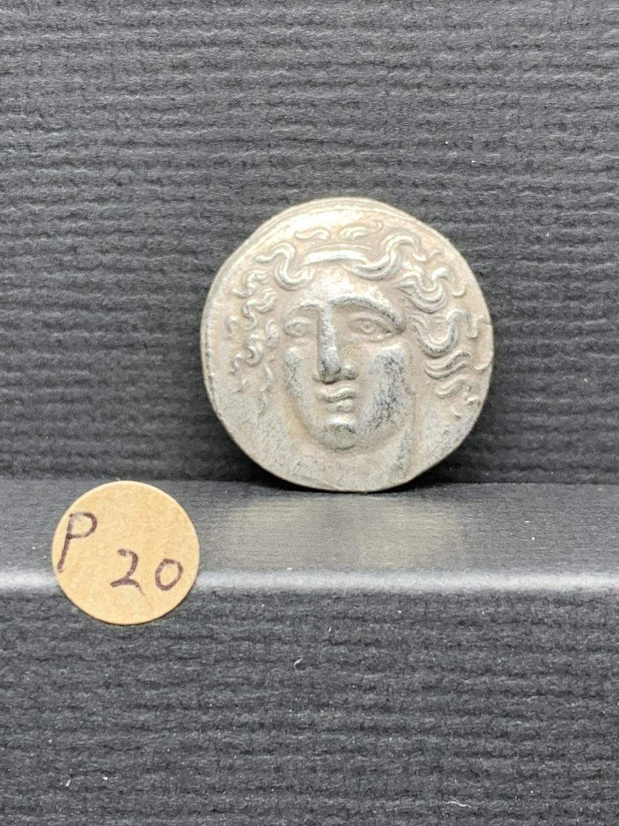 Ω古代銭 ギリシャ ヨーロッパ 紀元前コイン復刻参考レプリカ 詳細不明 レアメダル 硬貨古銭 レア記念 希少骨董 アンティーク 海外 p20_画像1