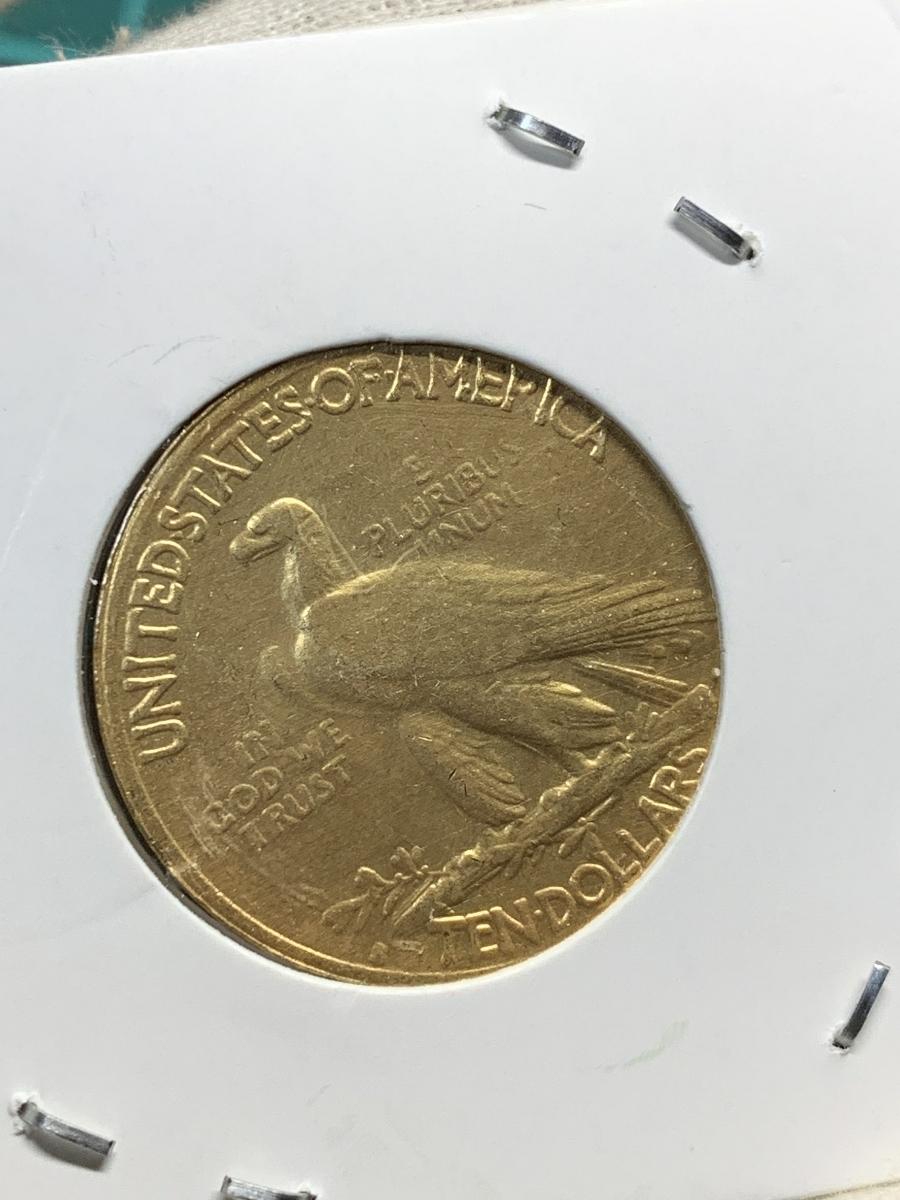 Ω1912年 アメリカ インディアンヘッドイーグル 10ドル メダル レア希少記念 古銭硬貨金貨KGP 海外復刻参考レプリカコイン に9_画像2