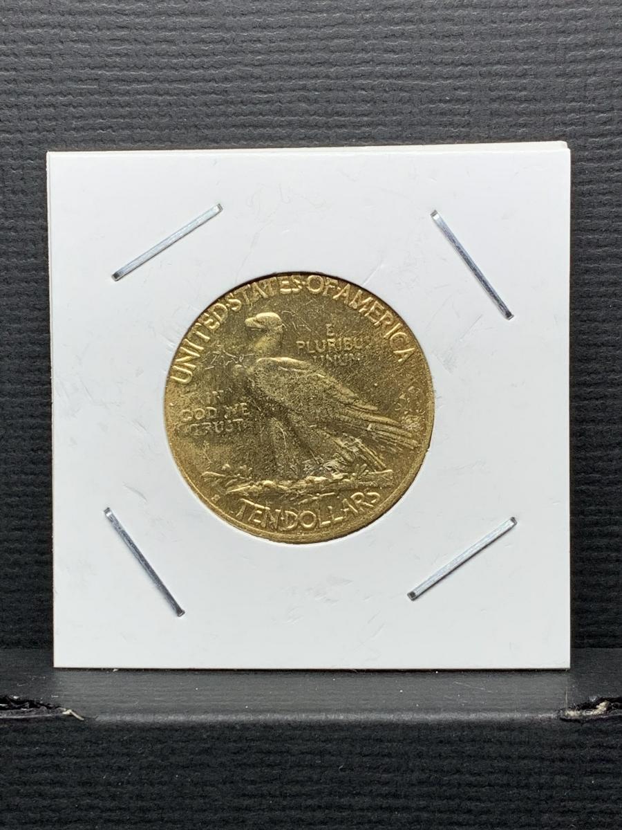Ω1915年 アメリカ インディアンヘッドイーグル 10ドル メダル レア希少記念 古銭硬貨金貨KGP 海外復刻参考レプリカコイン に18_画像2
