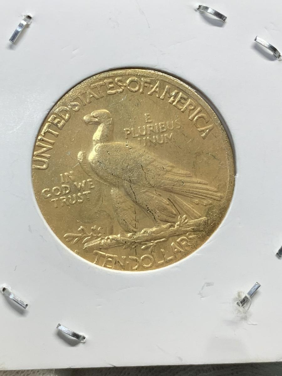 Ω1930年 アメリカ インディアンヘッドイーグル 10ドル メダル レア希少記念 古銭硬貨金貨ゴールドKGP 海外復刻参考レプリカコイン に24_画像4