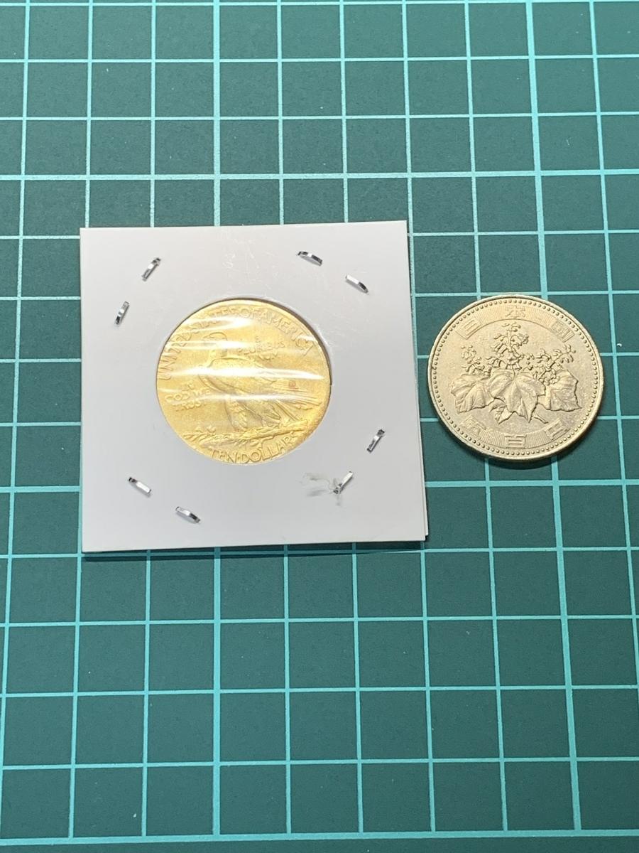 Ω1930年 アメリカ インディアンヘッドイーグル 10ドル メダル レア希少記念 古銭硬貨金貨ゴールドKGP 海外復刻参考レプリカコイン に24_画像6