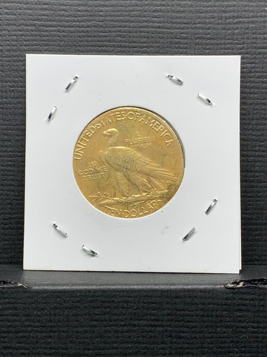 Ω1930年 アメリカ インディアンヘッドイーグル 10ドル メダル レア希少記念 古銭硬貨金貨ゴールドKGP 海外復刻参考レプリカコイン に24_画像2