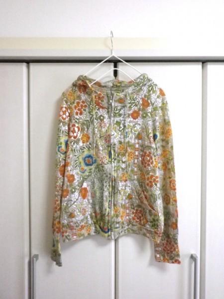 CHIYUKI 杉本ちゆき パーカー 可愛い花柄 さらさら ラメ入 日本製 チユキ Y'sヨウジヤマモト 舞台衣装/ac