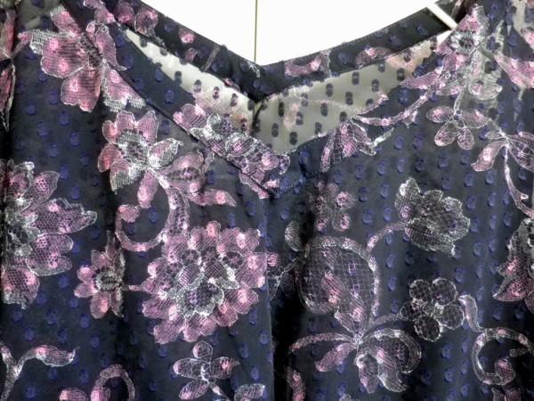 CHIYUKI 杉本ちゆき ワンピース 繊細な花柄 刺繍 さらり ゆるふわ 日本製 チユキ Y'sヨウジヤマモト 舞台衣装/ac_画像3