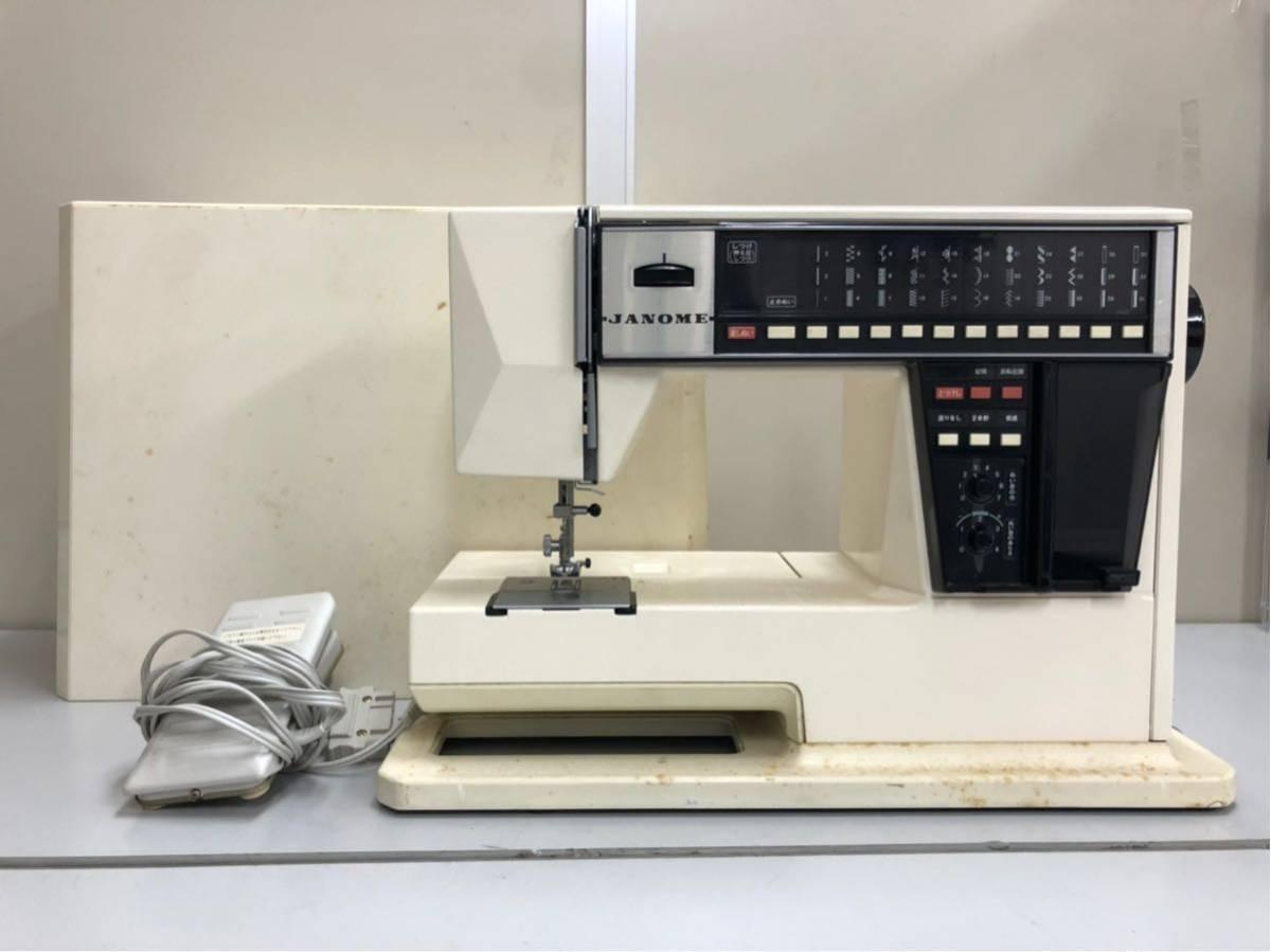 JANOME ジャノメ MEMORIA メモリア 5001型 電動ミシン コンピューターミシンフットコントローラー 糸付き ジャンク品