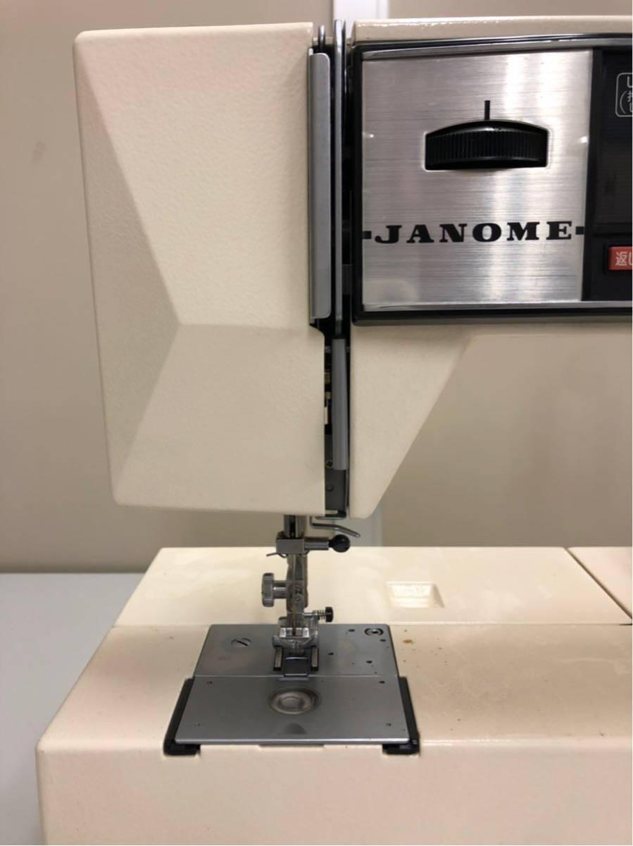 JANOME ジャノメ MEMORIA メモリア 5001型 電動ミシン コンピューターミシンフットコントローラー 糸付き ジャンク品_画像4