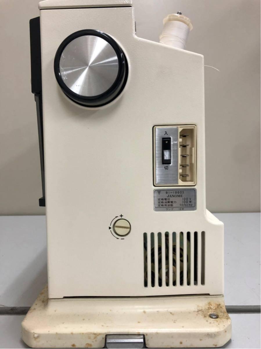 JANOME ジャノメ MEMORIA メモリア 5001型 電動ミシン コンピューターミシンフットコントローラー 糸付き ジャンク品_画像7