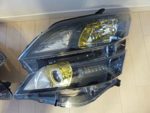 トヨタ  20 系 ヴェルファイア イカリング付き ゴールデンアイズⅡ 風 加工 ヘッドライト 左右セット_画像2