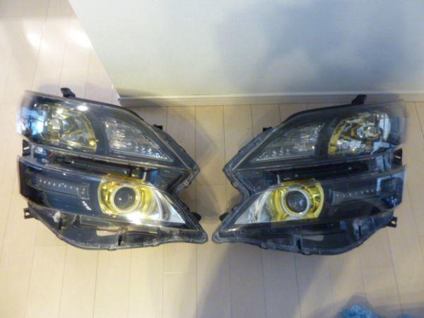 トヨタ  20 系 ヴェルファイア イカリング付き ゴールデンアイズⅡ 風 加工 ヘッドライト 左右セット