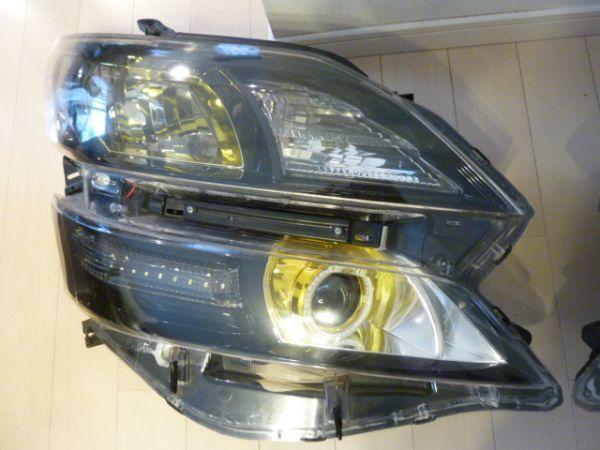 トヨタ  20 系 ヴェルファイア イカリング付き ゴールデンアイズⅡ 風 加工 ヘッドライト 左右セット_画像3