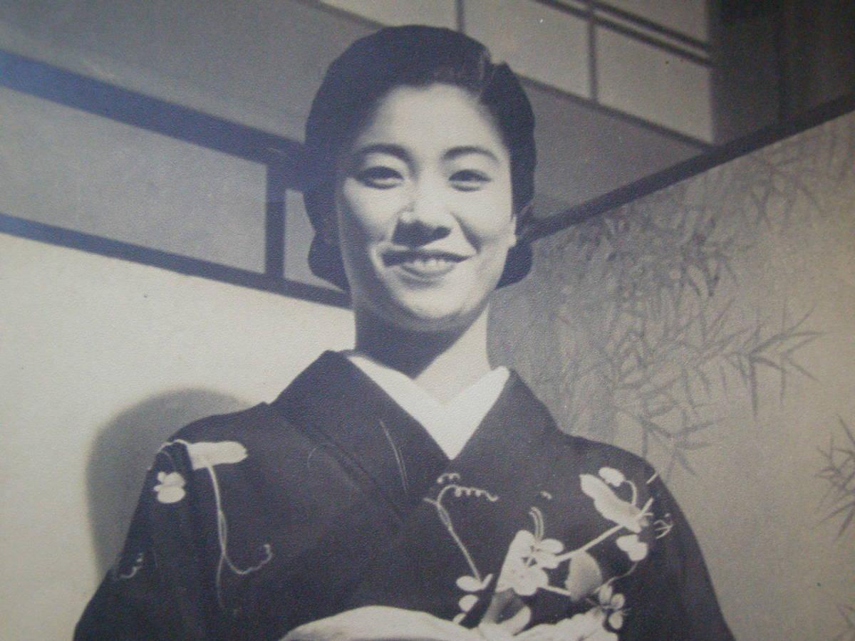 戦前 古写真 美人 美女 女性 笑顔 (F21)_画像2