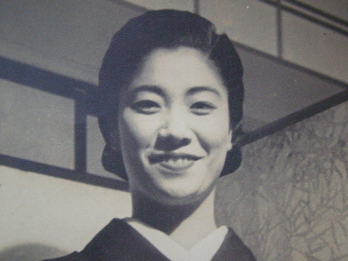 戦前 古写真 美人 美女 女性 笑顔 (F21)_画像3