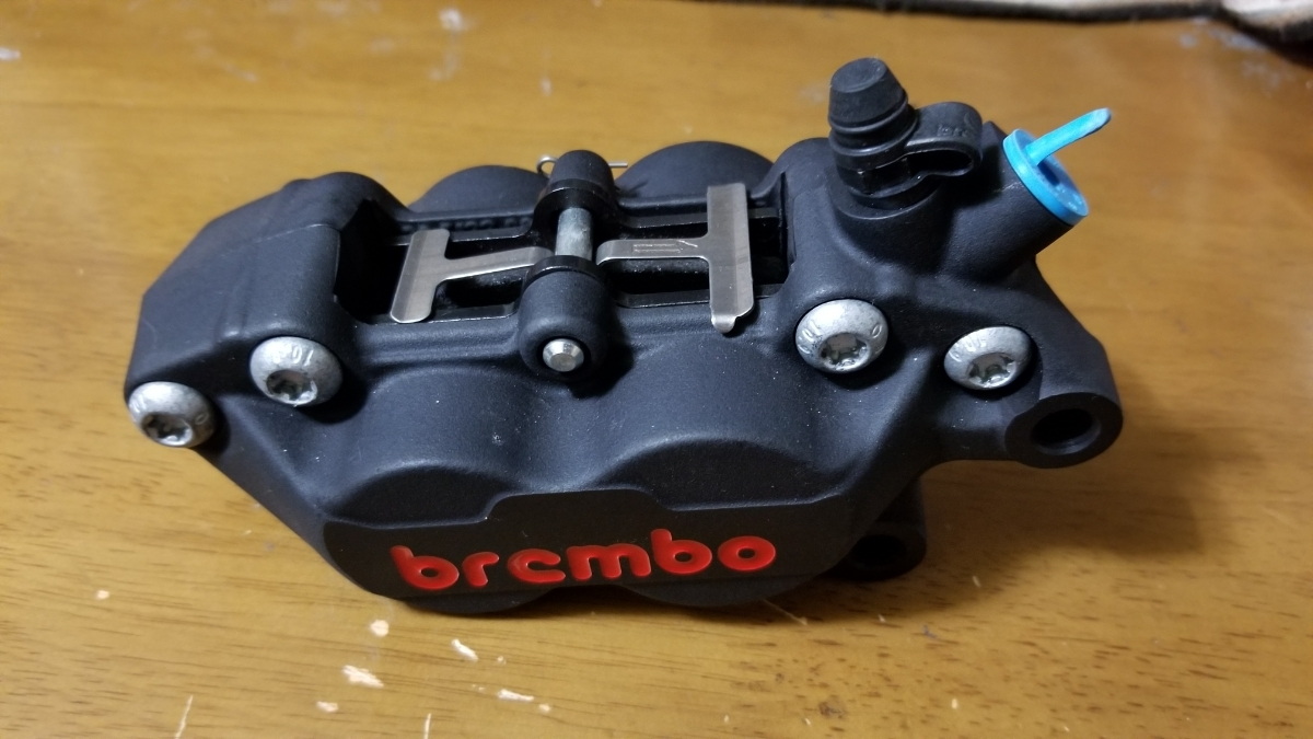 【未使用】【新品】brembo ブレンボ 『幻』限定モデル 4pot 40mmキャスティングキャリパー 右側_画像6