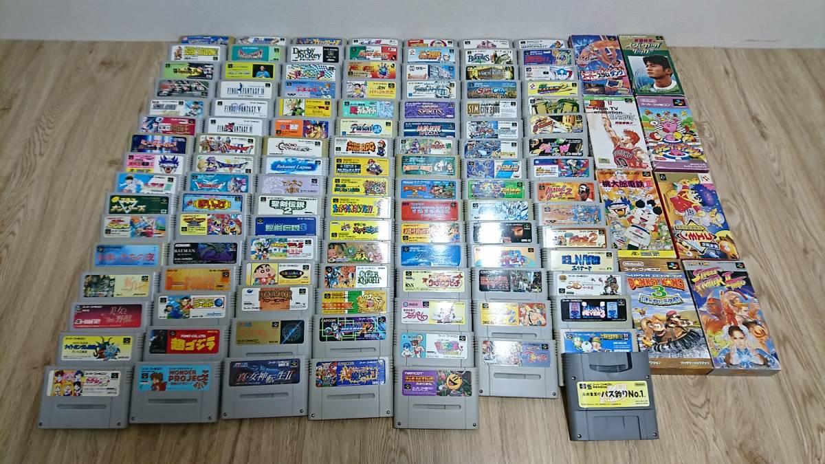 ★まとめ売り★SFCスーパーファミコンソフト大量100本以上セット★現状処分 マリオカート ドラクエ ファイナルファイト 魔界村等
