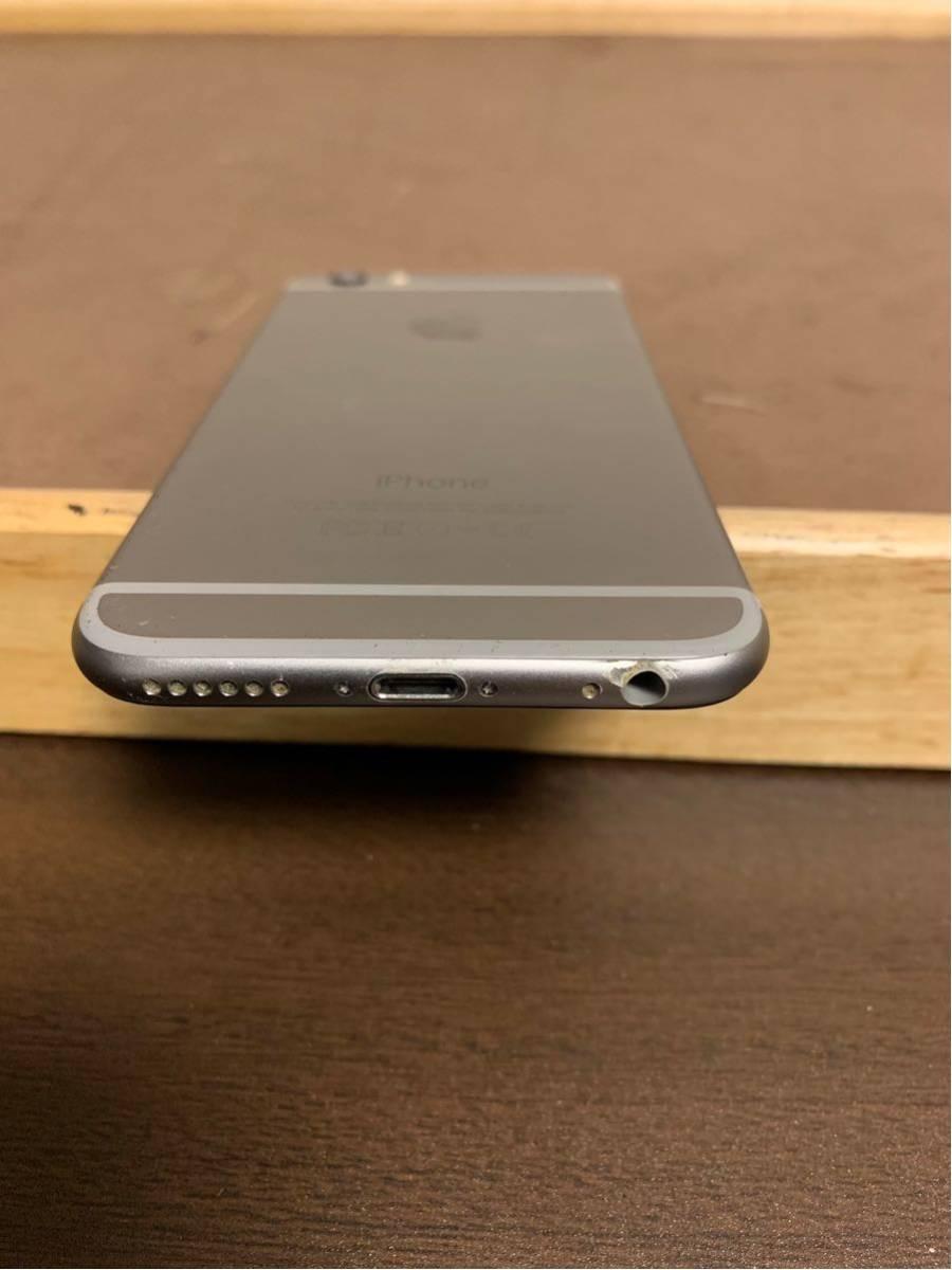 1円スタート iPhone 6 スペースグレイ 64GB ジャンク品 動作確認済 ドコモ docomo_画像4