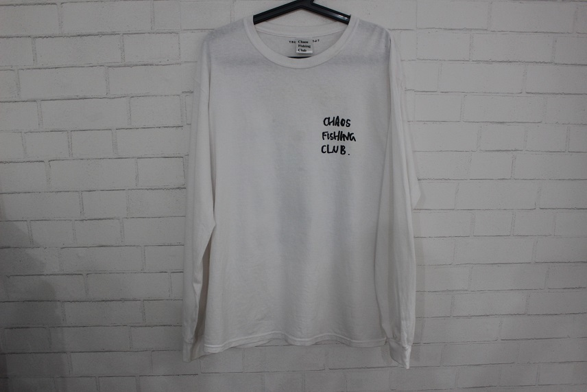 BEAMS T Chaos Fishing Club Hirotton Long Sleeve Tee 長袖 Tシャツ ホワイト size L 正規品 カオス フィッシィング クラブ _画像2