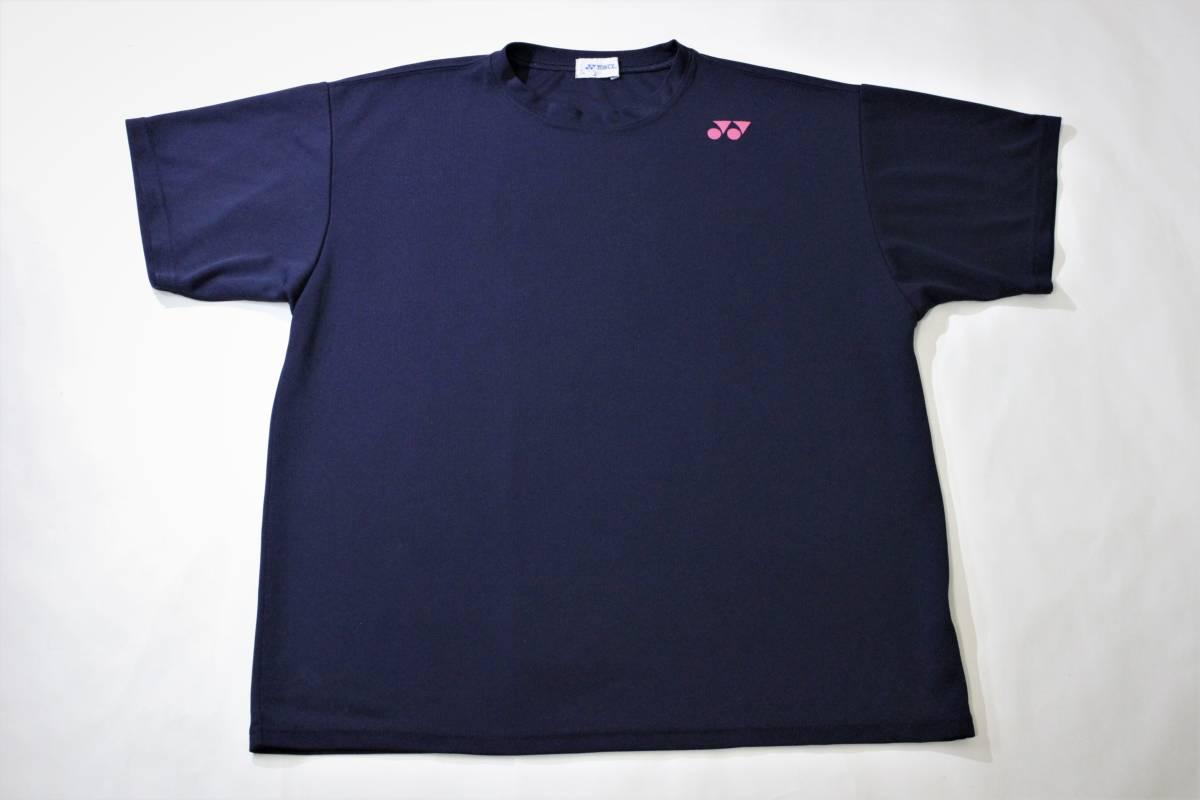 ◆YONEX ヨネックス◆半袖 吸汗速乾 Tシャツ ネイビー:L _画像2